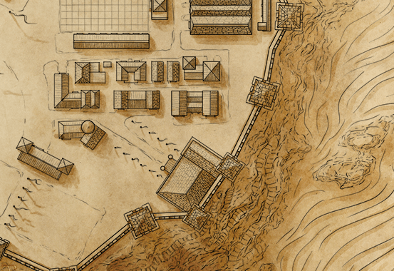 First shadows for the Blackcliff Academy map - using an overlay layer