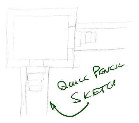 first sketch an outline design for the wall map