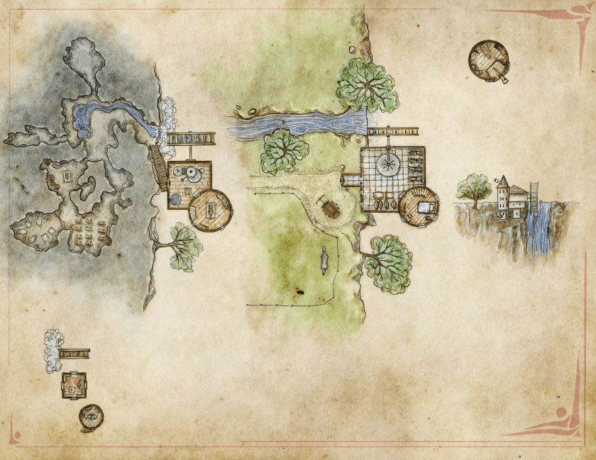The unlabeled map of the Arcanist's Mill - free for personal use. Licensed CC-BY-NY-SA credit Jon Roberts, Fantastic Maps