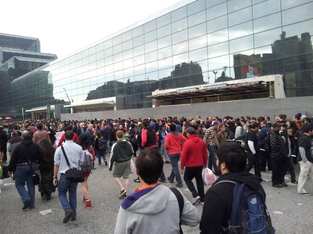The line outside
