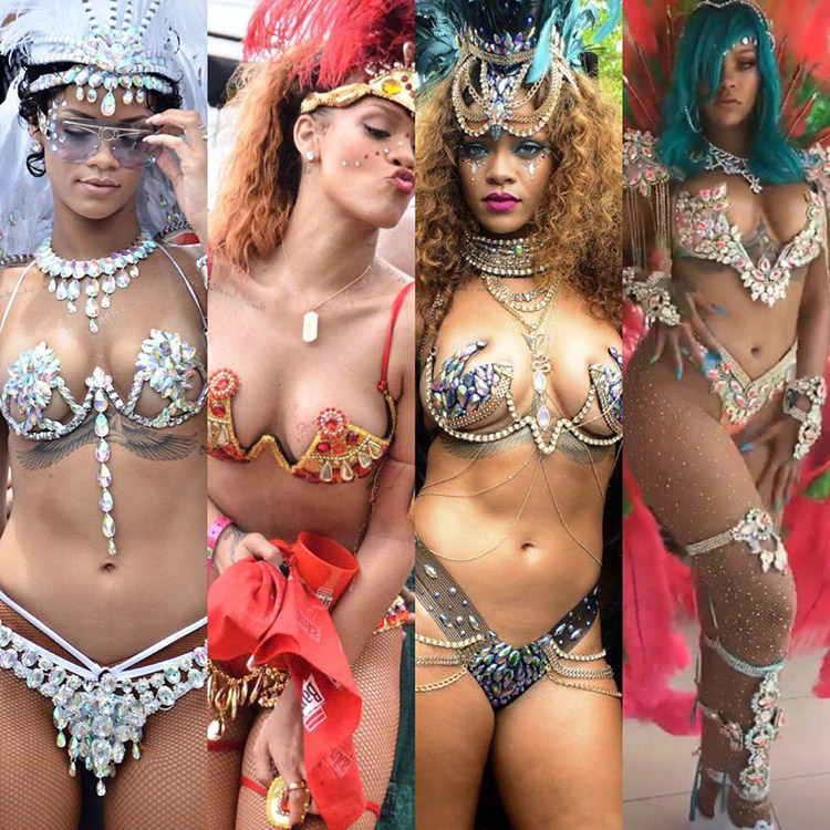 Rihanna @ Grand Kadooment (evolution)