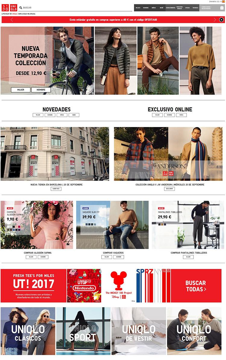 UNIQLO web español