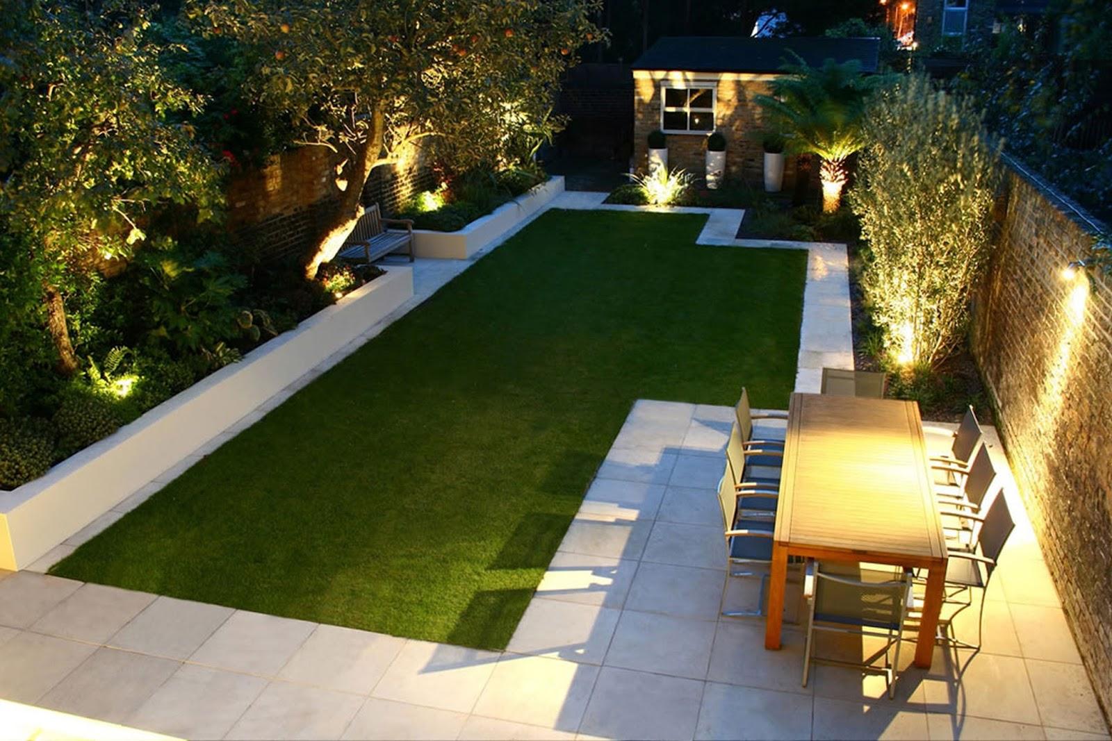 Exquisite Modern Garden Design With Beautiful Lightings