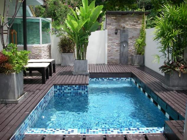 piscina privada refrescante 634x476 10+ Ideas para maravillosas piscinas de natación Mini En su patio trasero