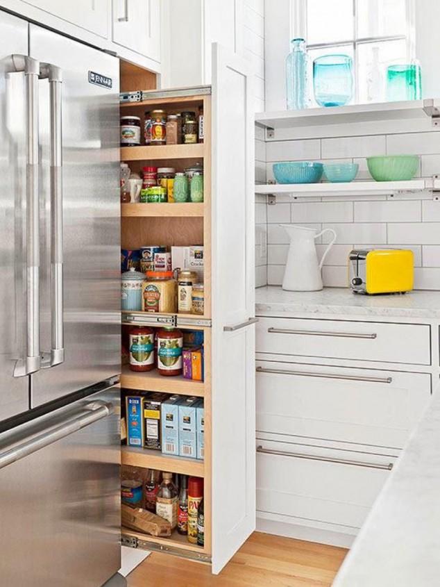 minúscula cocina 2 634x845 17 ideas creativas que te puede ayudar a ahorrar algo de espacio en su cocina
