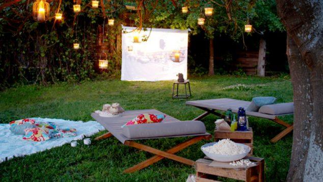 cine al aire libre 1 634x357 12 Ideas Abiertas Aire Cine de Verano para la tarde romántica