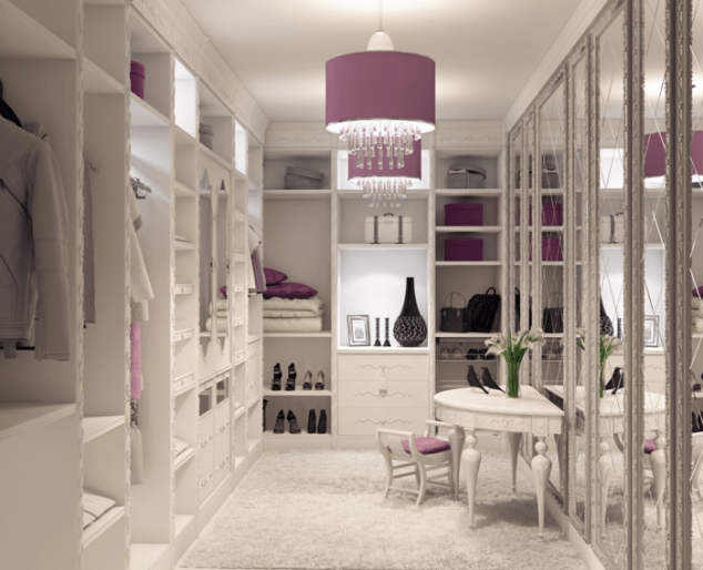 decorating tips dressing room open closet dressing room 634x514 12 Glamorous Dressing Room Closet Ideas For The Ladies