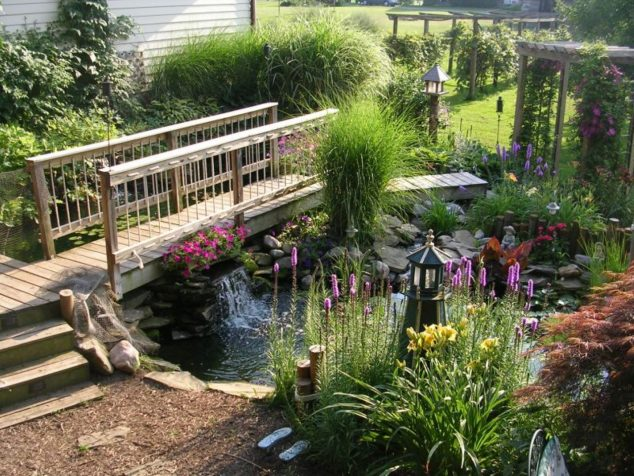 15 Inspirative Garden Pond With Bridge That You Would Like