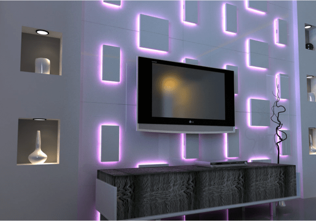 TEXTURED SURFACE 3DWALL PANEL SQUARE XX1 634x443 15 Impressive Wall Lamp Design to Bless the Walls in The Living Place