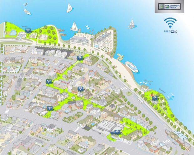 wifi zell am see plattegrond