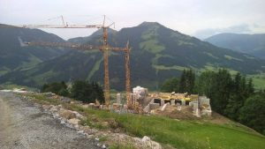 Brixen im Thale Jochbahn werkzaamheden