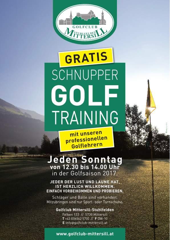 Golf Mittersill Schnuppertag 2017
