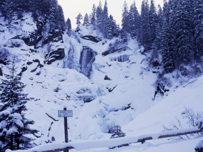 Krimmler waterval winter