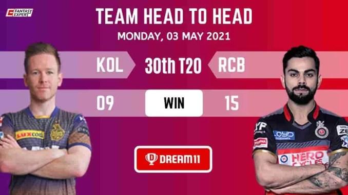 KOL vs BLR 30th Vivo Ipl Match Dream11 prediction