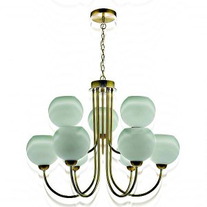 9 Lights Brass Pendant