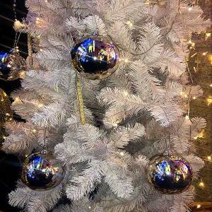 LED Silver Bauble