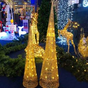 Glittering 3D Cone Tree LED