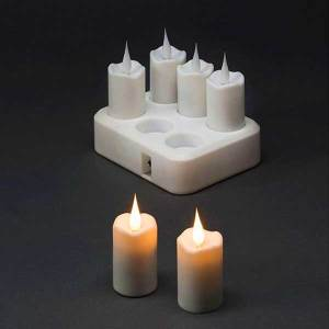 6 Piece Rechargeable Candle Lights