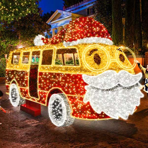 3D Santa Bus