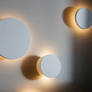 LED Backlit Ceramic Circle Wall Light