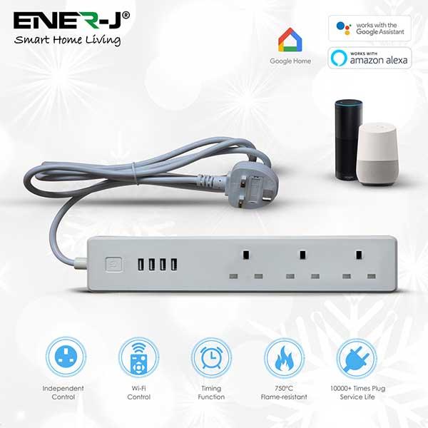 Wifi Power Strip Extention Box with USB 6