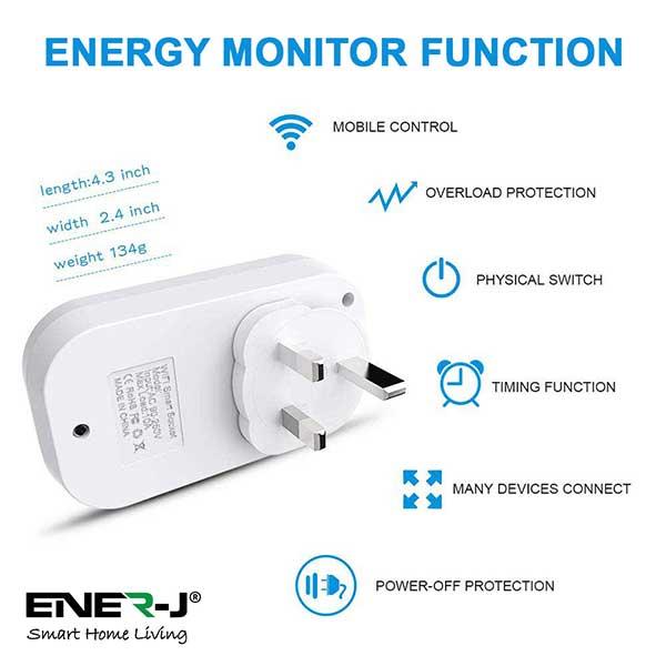 WiFi Smart Plugs with Energy Monitor, 16A UK Plug 4