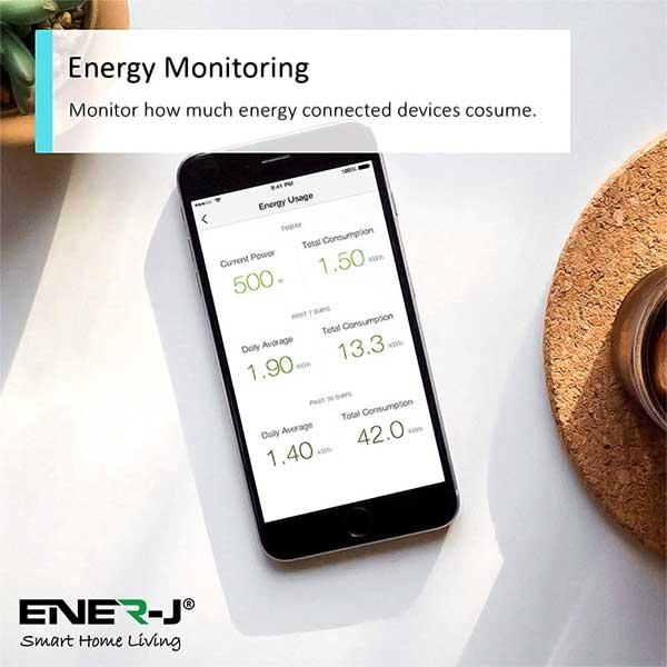 WiFi Smart Plugs with Energy Monitor, 16A UK Plug 3