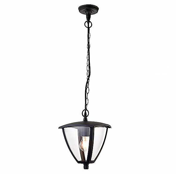 Textured Grey Hanging Lantern
