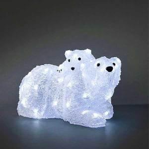 LED Acrylic Polar Bears