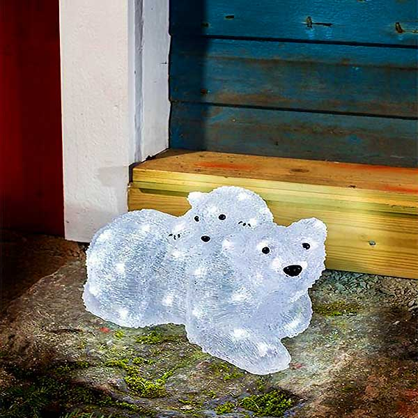 LED Acrylic Polar Bears