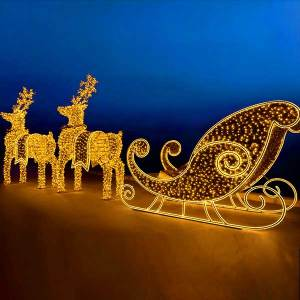 Christmas Sleigh and Reindeer