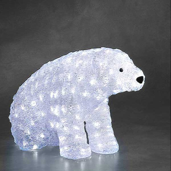 LED Sitting Polar Bear