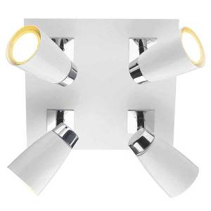 4L Plate White Chrome Spotlight