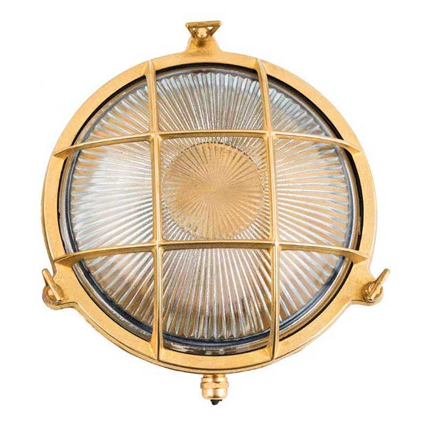 Brass Round Wall Light