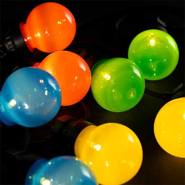 20 LED Multi coloured Festoon Lights