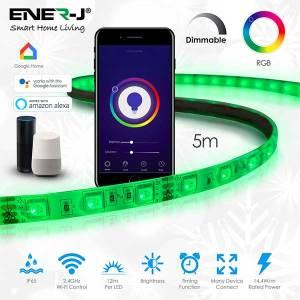 Smart WiFi RGB LED Strip Plug and Play Kit 12V, 5 meters, IP65