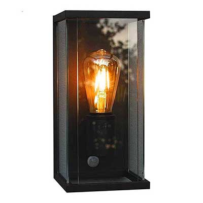Outdoor Boxed Wall Light With PIR Sensor