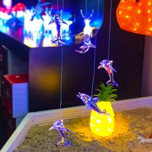 Hanging LED Dolphins