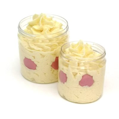 Two jars of Thunderbolt shower frosting