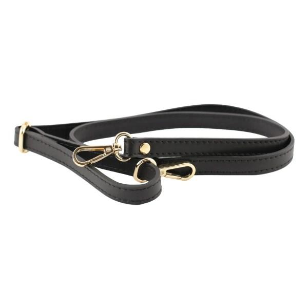 Tracolla in pelle nera di borsa piccola elegante