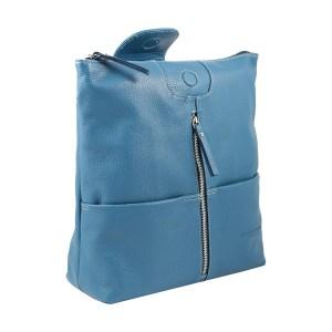 Zaino donna in pelle turchese azzurro Fantini Pelletteria Made in Italy