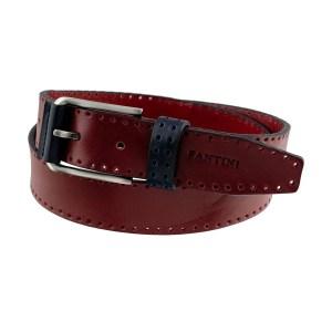 Cintura in pelle bordeaux Fantini vera pelle Made in Italy