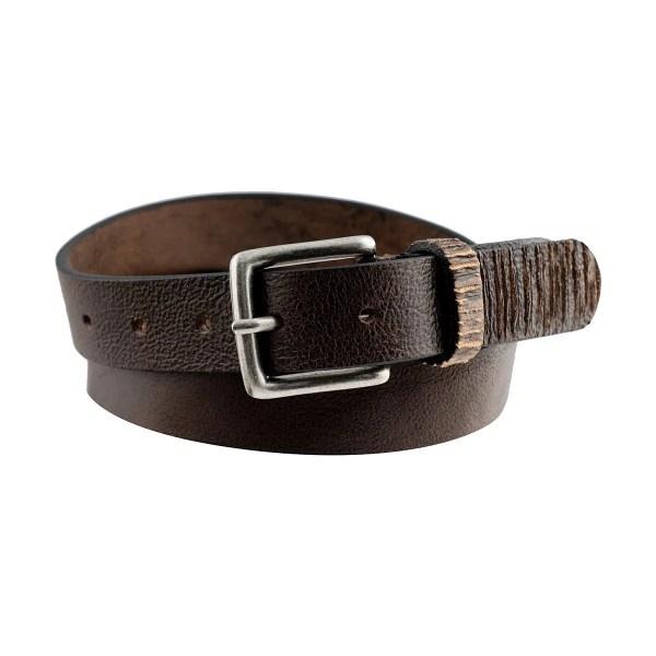 Cintura marrone scuro in pelle sottile elegante