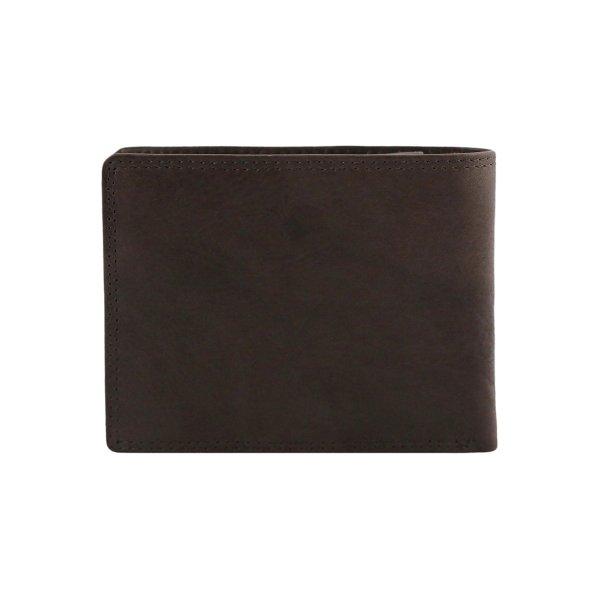 Portafoglio uomo marrone - portafoglio in pelle marrone scuro - borsellino pelle