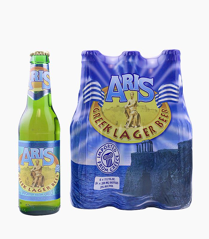Aris Greek Lager Beer, 6-Pack