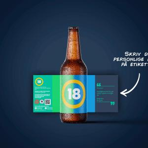 Økologisk fødselsdag øl med personlig hilsen - Perfekt som fødselsdagsgave