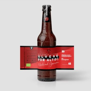 Fodbold øl med unik etikette