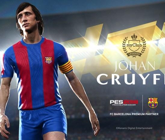 Johan Cruyff llega a PES 2018