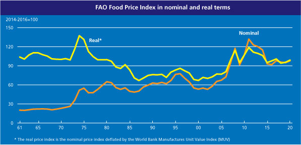 The FAO Food Price Index steady in December but lower in 2018 compared to 2017 1