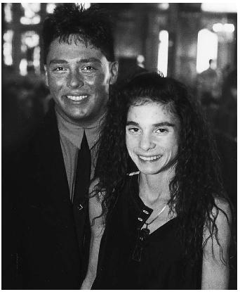 Christy Henrich with her boyfriend during the early 90s, at an event to raise money for her medical costs.